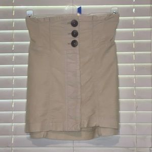 Free People Button Up Texturized Skirt